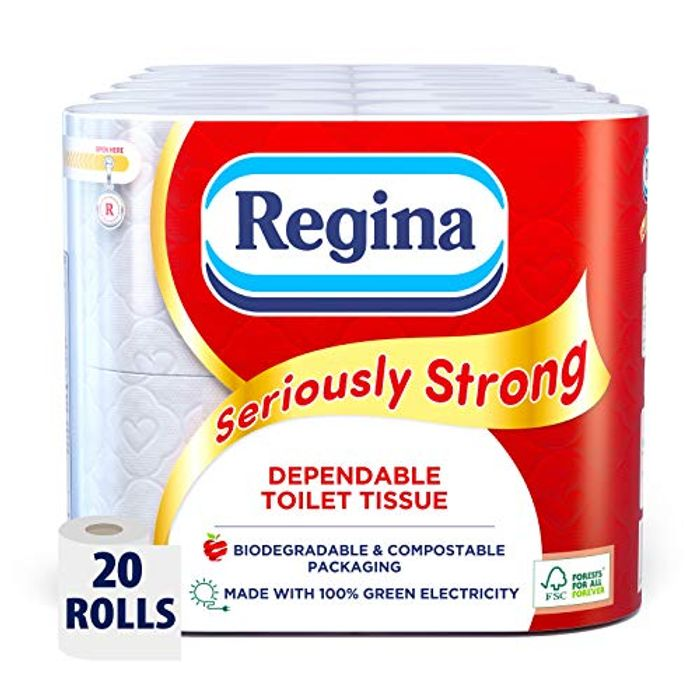 BEST EVER PRICE Regina Seriously Strong Toilet Tissue, 20 Rolls, Bio Packaging