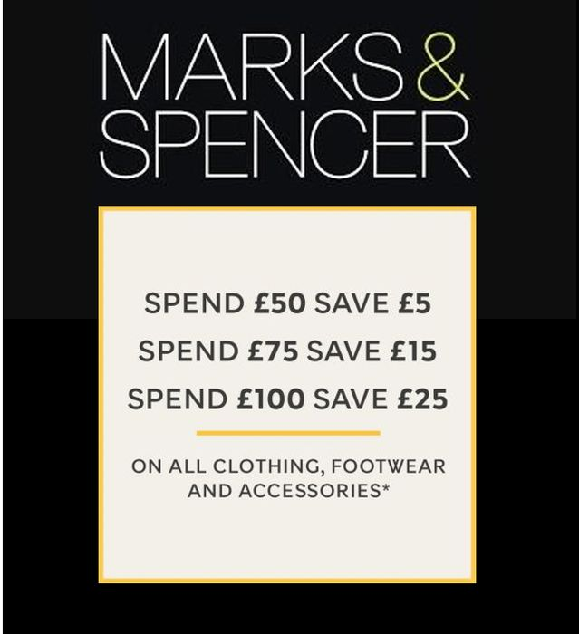 M&S SPEND & SAVE - ONLINE ONLY