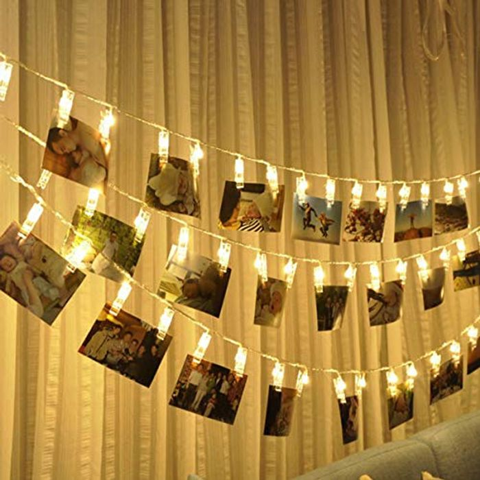 DEAL STACK - Photo Clip String Lights + 10% Coupon
