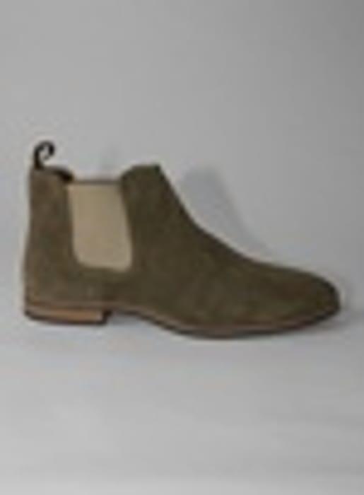 Khaki Suede Caden Chelsea Boots