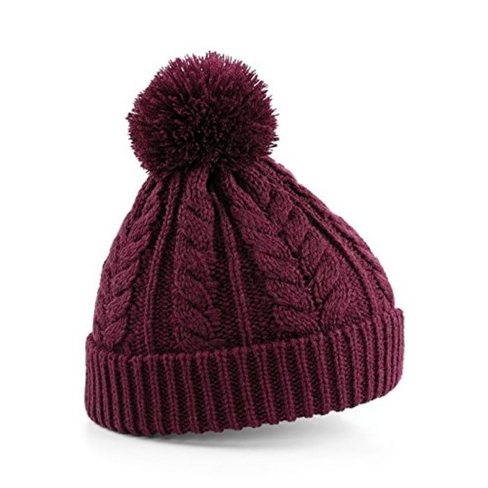 Unisex Fair Isle Knit Snowstar Beanie Bobble Hat 3 Colours