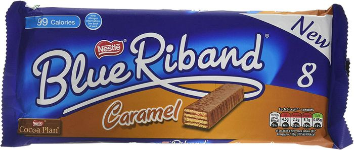 Blue Riband Milk Chocolate Caramel Wafer Biscuit Bar, 8x20g