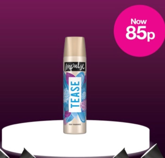 Today Only! Now 85p on Selected Impulse Body Spray/ 7 Varieties Added
