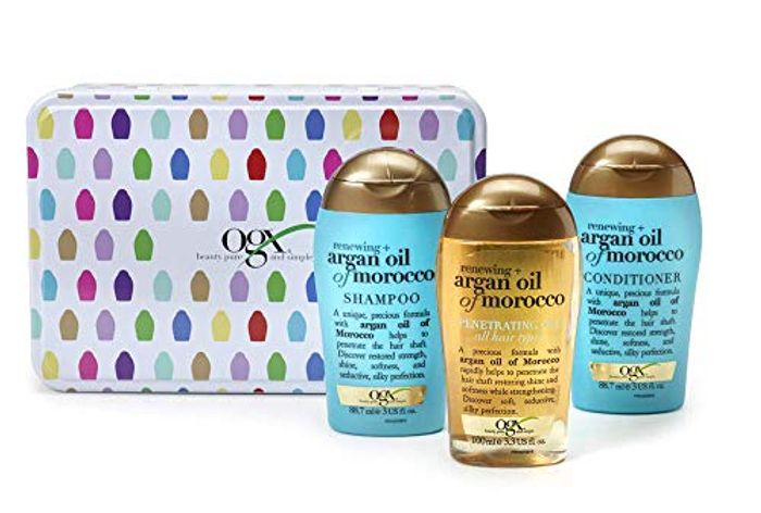 Morocco Gift Tin with Shampoo, Conditioner and Hair Oil