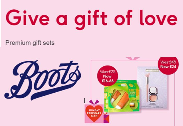 Boots Premium Beauty Gift Sets - Give a Gift of Love