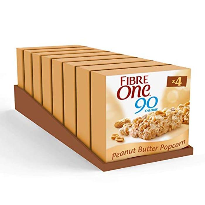 BEST EVER PRICE Fibre One 90 Calorie Peanut Butter High Fibre Bars X 32