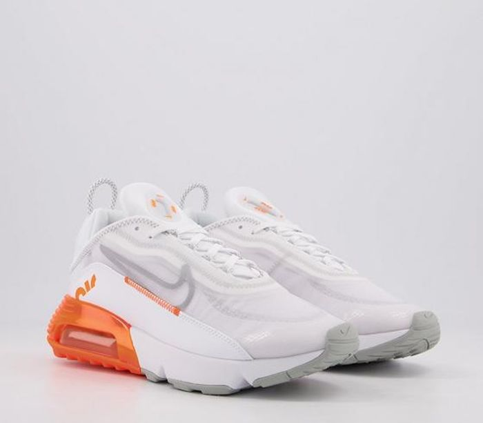 Nike Air Max 2090 Trainers White Orange Blast - Only £56!