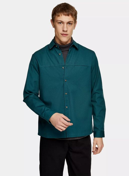 Blue Twill Slim Shirt