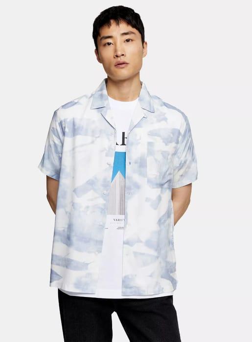 CONSIDERED Blue Mist Revere Shirt