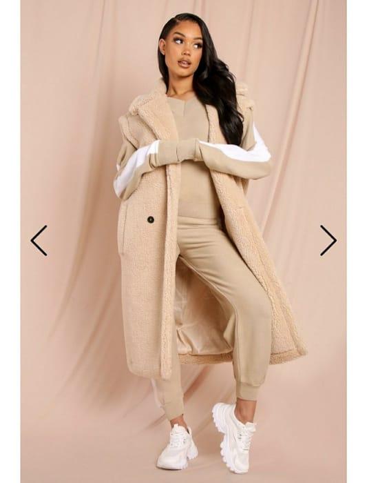 Teddy Sleeveless Longline Coat
