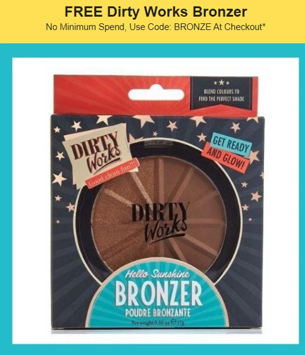 Free Dirty Works Bronzer With Code Just Pay P&P * EMAIL WHEN AVAILABLE NOW