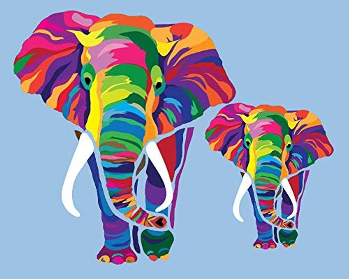 Elephant Paint by Numbers Kit