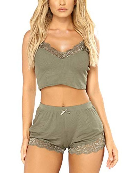 DEAL STACK - RSLOVE Lace Cami Pyjama Nightwear Set for Women + 8% Coupon