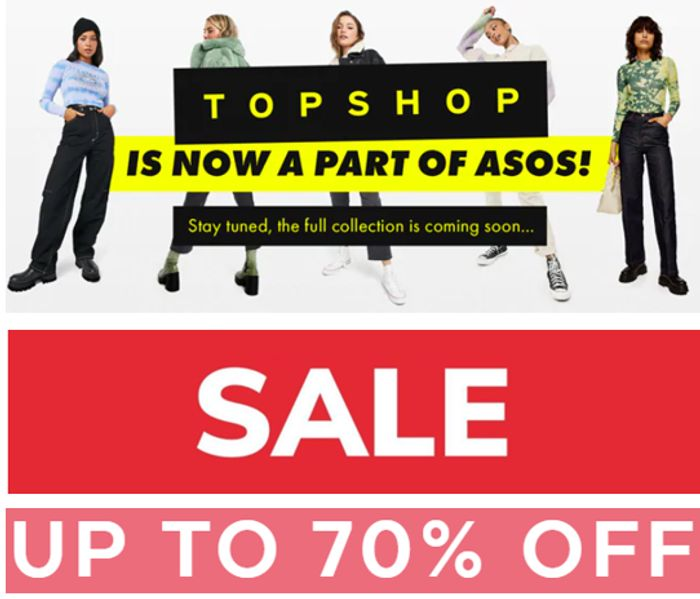 TOPSHOP SALE - up to 70% off Now at ASOS