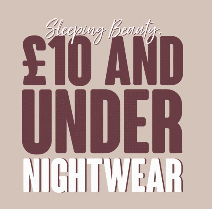 Special Offer - Matalan - £10 Or Less Women's Nightwear - Slippers, PJ's & Gowns