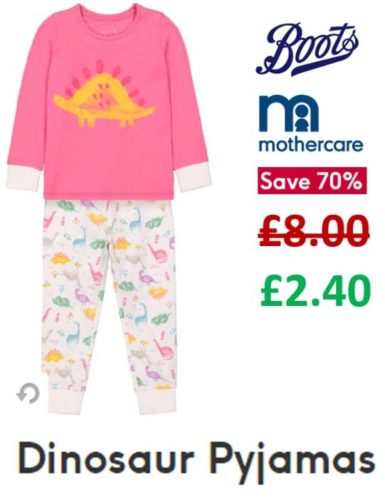 70% off - Boots Mothercare Dinosaur Pyjamas