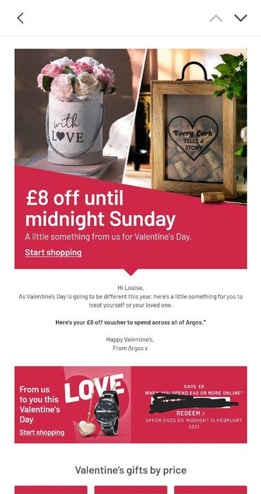 Individual Discount from Argos