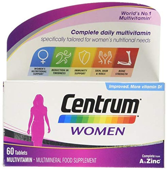 Centrum Women Multi Vitamins and Minerals Tablet, 60 Tablets (2 Months Supply)