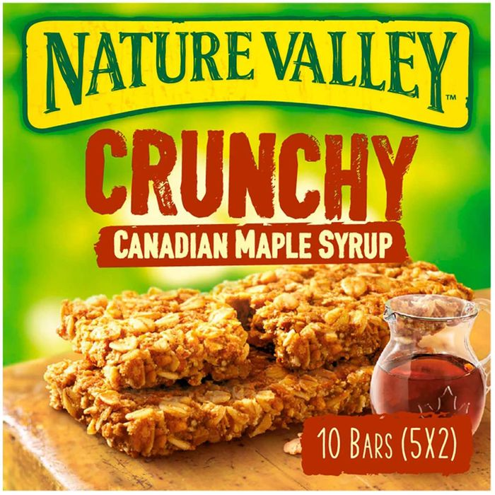 Nature Valley Crunchy Maple Syrup Bars, 10 Bars 5x2 42g