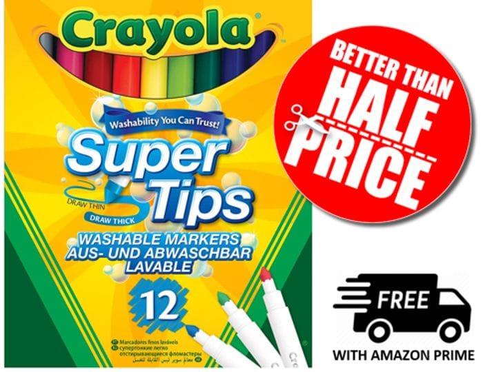 12 Crayola Super Tips Washable Markers *4.8 STARS*