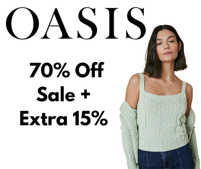 Oasis Up To 70% off Sale + Extra 15% off Code