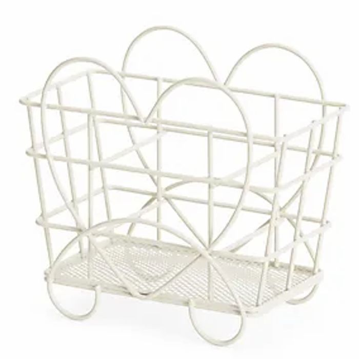 Wire Natural Hearts Caddy
