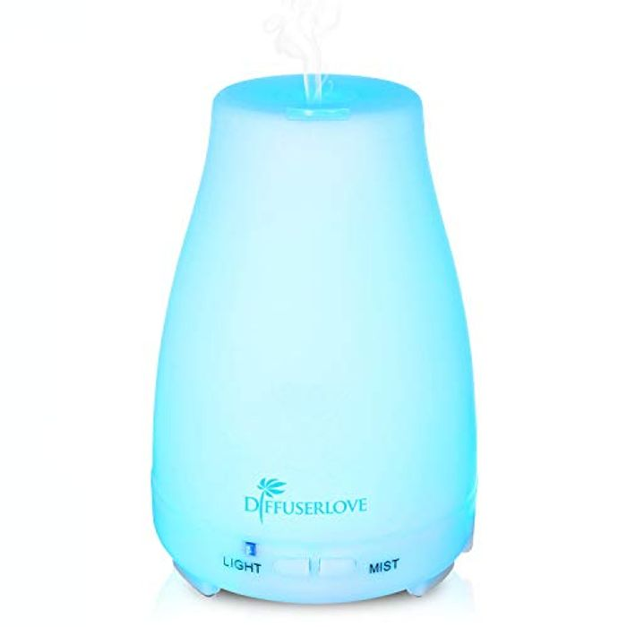 Essential Oil Diffuser/Humidifier 200ML with 7 Colour Lights