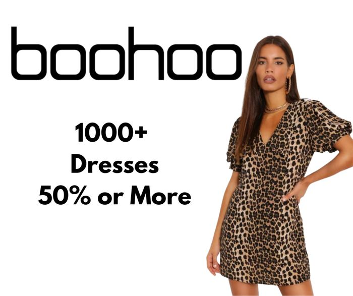 boohoo 1000+ Dresses 50% off or More