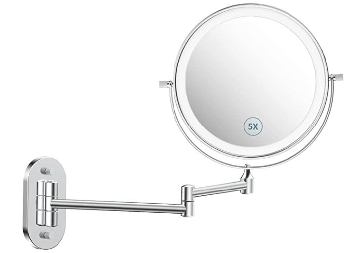 Wall Mounted Makeup Mirror with 3 Color Modes