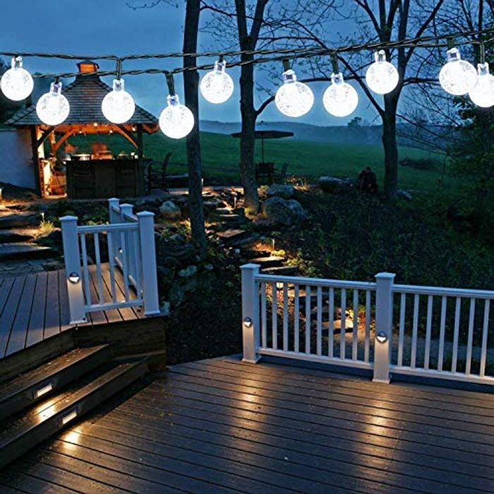 DEAL STACK - Solar Garden Lights Outdoor (Clear White) + 5% Coupon