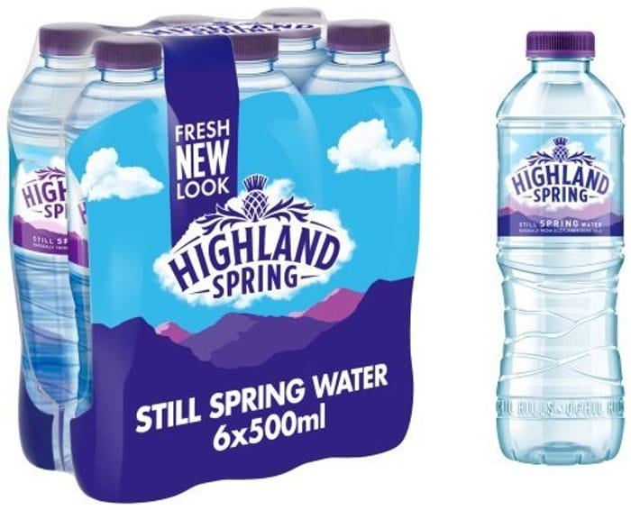 Highland Spring Still Spring Water, 6 X 500ml