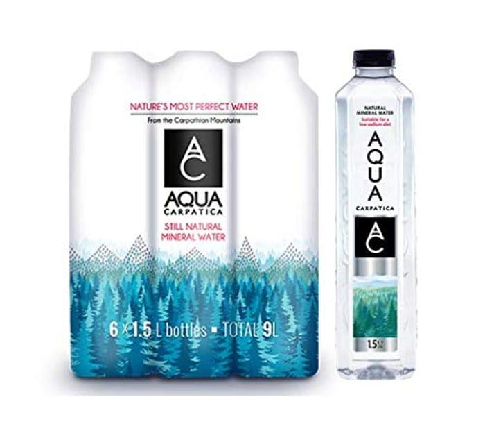 AQUA Carpatica Natural Still Mineral Water Virtually No Nitrates 6 X 1.5 Litre