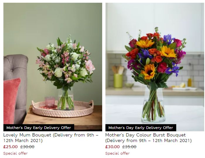 M&S Mother's Day Flowers Offer - SAVE £5 + FREE DELIVERY