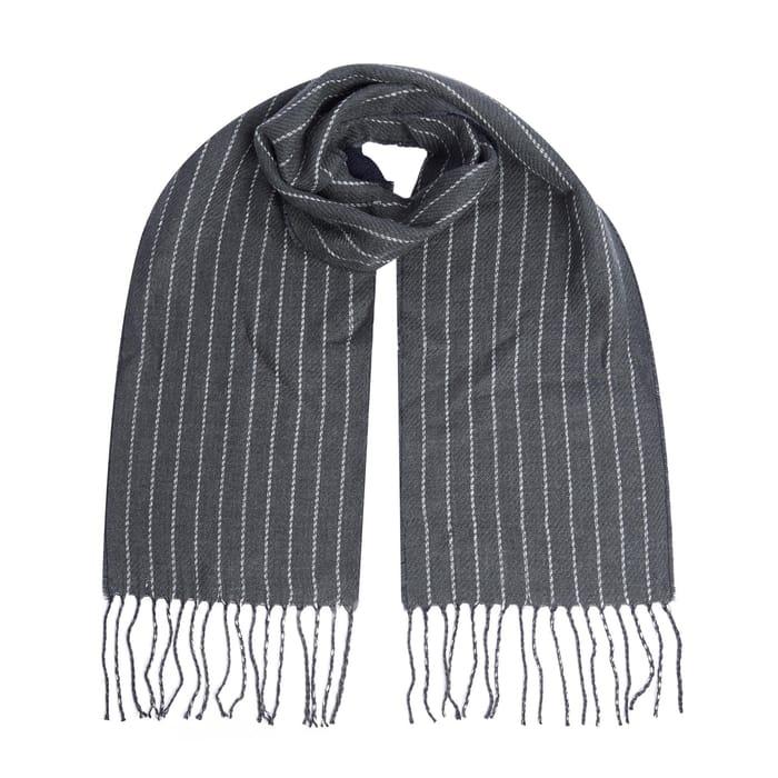 Burton - Grey Pin Stripe Scarf