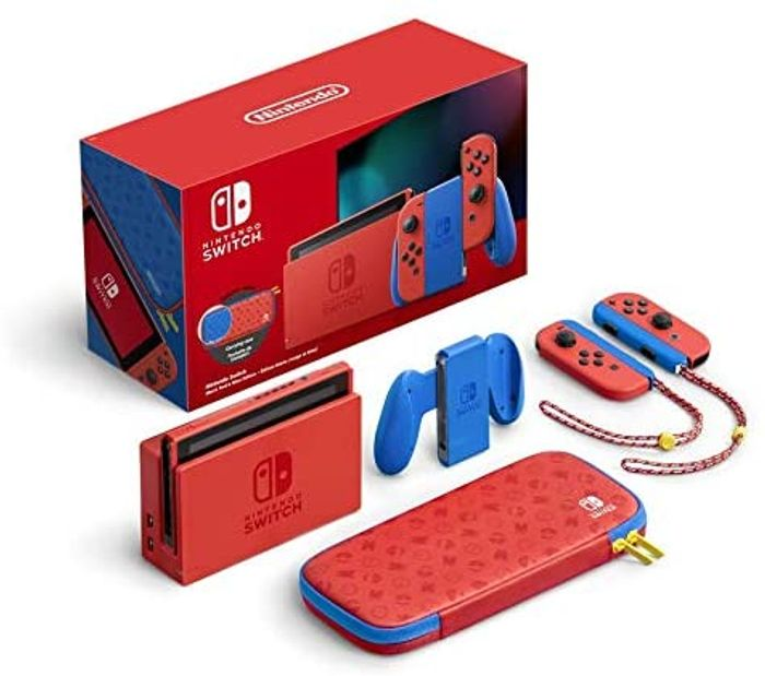 Nintendo Switch Console (Mario Red & Blue Edition)