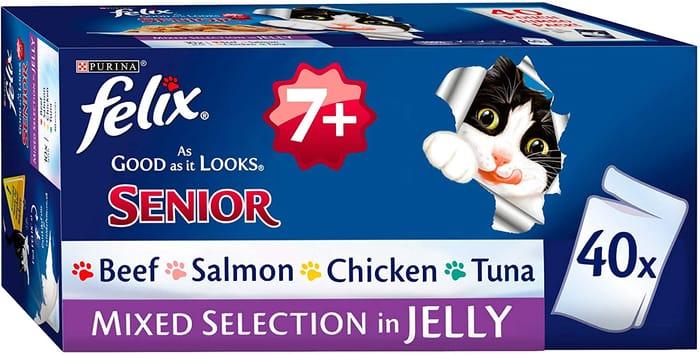 Felix as Good as It Looks 7+ Cat Food Mixed 40 X 100g