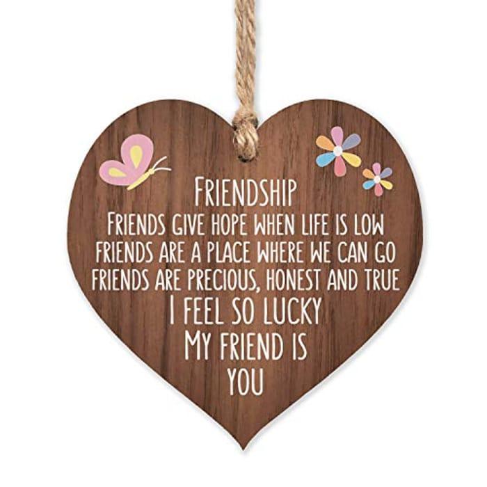 Friendship Wooden Plaque