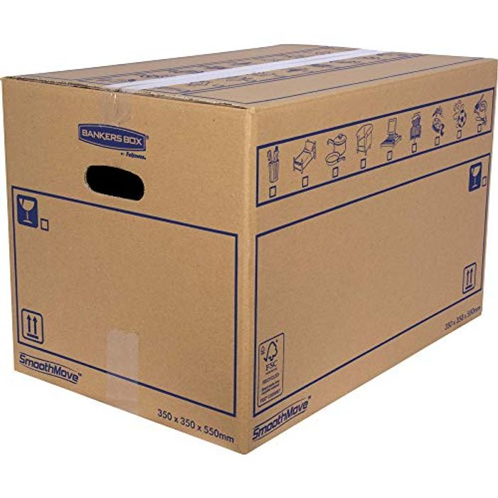 Heavy Duty Double Wall Cardboard Moving and Storage Boxes with Handles 10 Pack