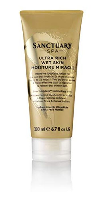 Sanctuary Spa Body Lotion, Ultra Rich Wet Skin Moisture Miracle