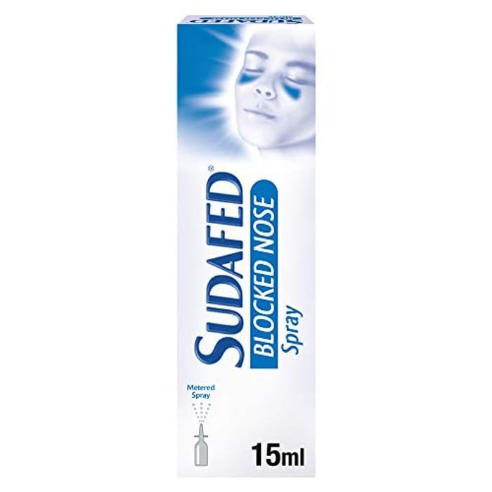 BEST EVER PRICE Sudafed Blocked Nose Nasal Spray 15 Ml