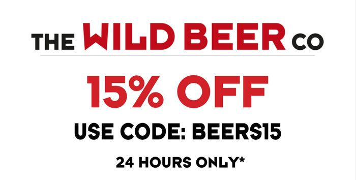 SAVE 15% off Beers at the Wild Beer Co