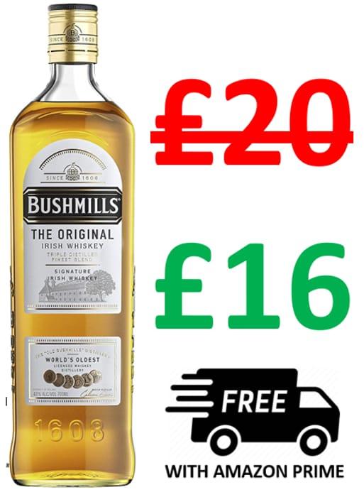 Bushmills Original Irish Whiskey, 70cl