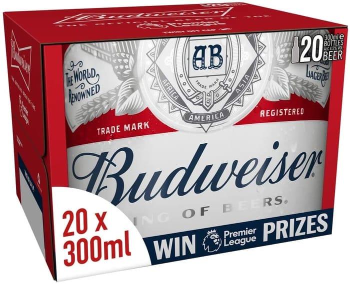 Amazon #1 Best Seller - Budweiser Lager Beer 20 X 300ml