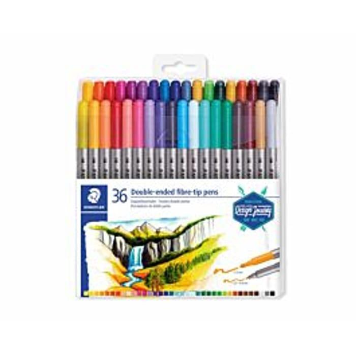 Staedtler Double-Ended Fibre Tip Pens Pack of 36