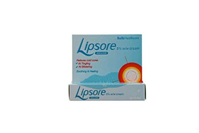 Bells Healthcare Lipsore 5 Aciclovir Cream, 2 Gram(Pack of 3)