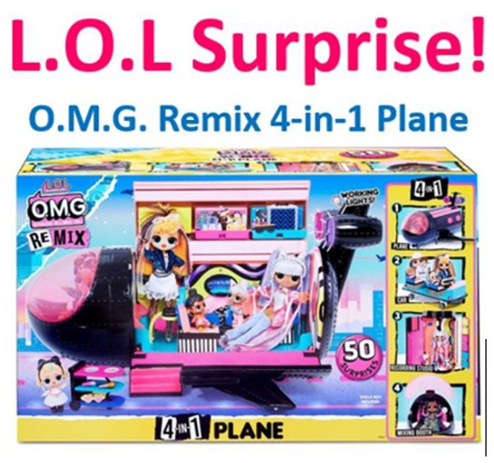 LOL Surprise OMG Remix 4-in-1 Plane | with 50 Surprises
