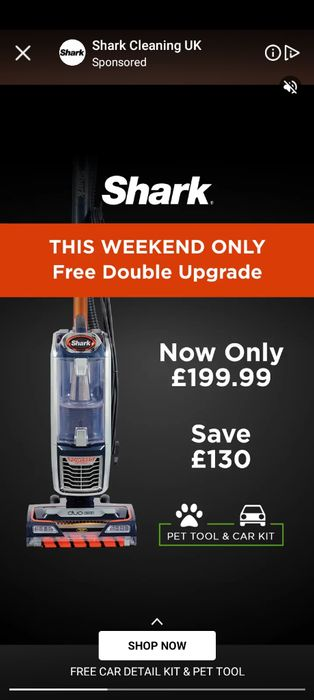 Double Deal on Shark This Weekend plus Free Pet and Car Kits!
