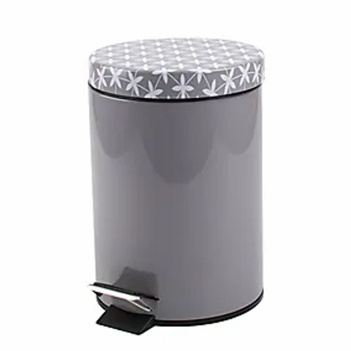 GEO' Style Grey Pedestal Bathroom/Office? Bin