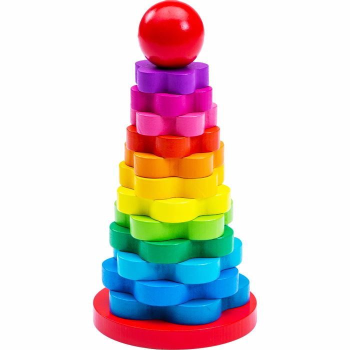 Let's Play Shape Stacker All the Colours of the Rainbow!