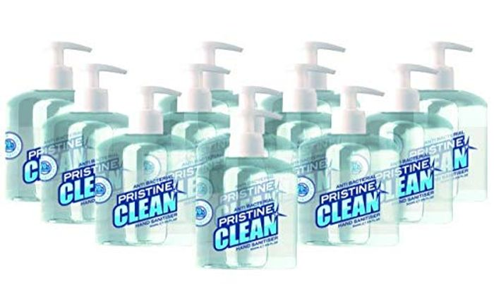 Pristine Clean, Hand Sanitiser Gel Pump Dispenser, 500ml, 70% Alcohol,12 Pack